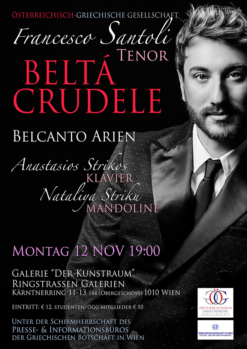 Beltá Crudele, Belcanto Arien mit Fr. Santoli