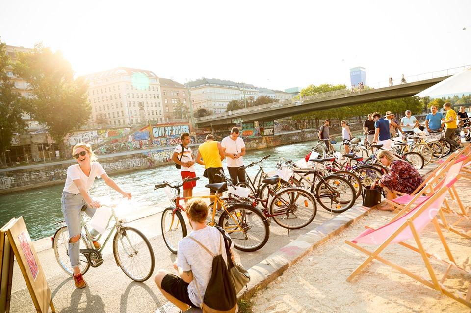 WUK Fahrradflohmarkt am Donaukanal