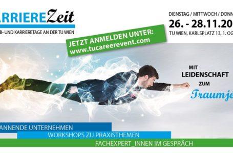 Karriere Zeit – die Job- und Karrieretage an der TU Wien