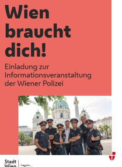 Einladung zur Informationsveranstaltung der Wiener Polizei